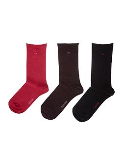 Roll top 3 pair pack ankle socks