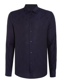 Versace Jeans Tonal logo print long sleeve shirt