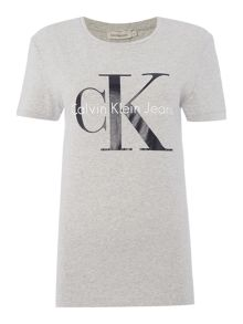 Calvin Klein Skrunken re-issue tee in light grey heather