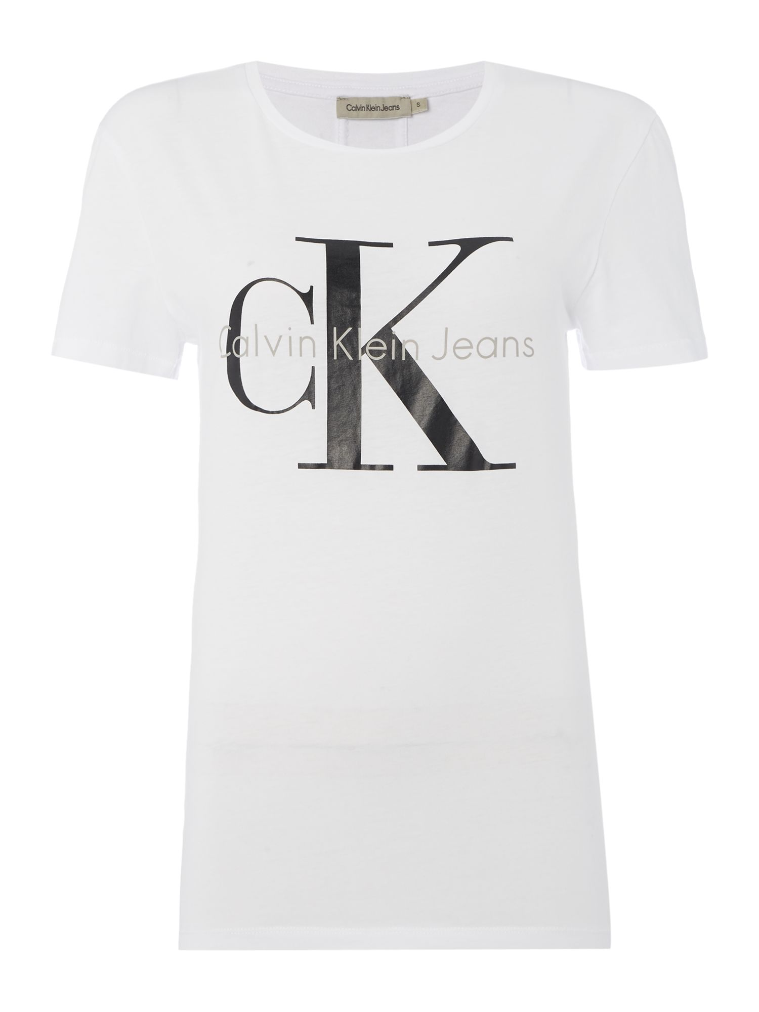 Calvin Klein Skrunken re-issue tee in bright white, White