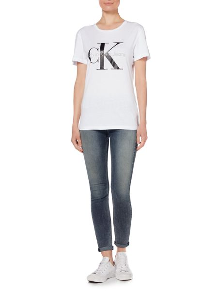 Calvin Klein Skrunken re-issue tee in bright white
