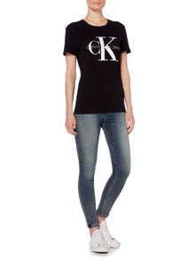Calvin Klein Skrunken re-issue tee in white heather