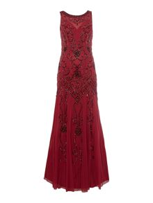 Ariella Beaded chiffon gown
