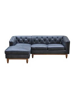 George LHF Chaise Sofa in Oxford Charcoal