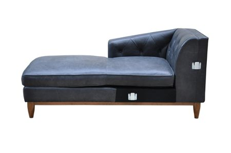 Living by Christiane Lemieux George LHF Chaise Sofa in Oxford Charcoal