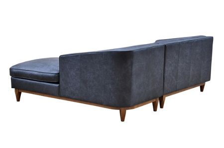 Living by Christiane Lemieux George RHF Chaise Sofa in Oxford Charcoal