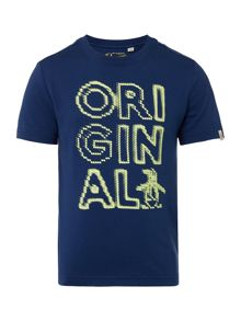 Original Penguin Boys Pixl Penguin Graphic T-Shirt