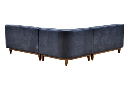 Living by Christiane Lemieux George Corner Sofa in Oxford Charcoal