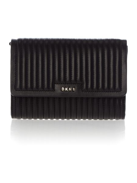 DKNY Gavensport black small flapover cross body bag