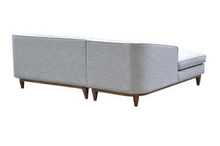 Living by Christiane Lemieux George LHF Chaise Sofa in Austria Shell