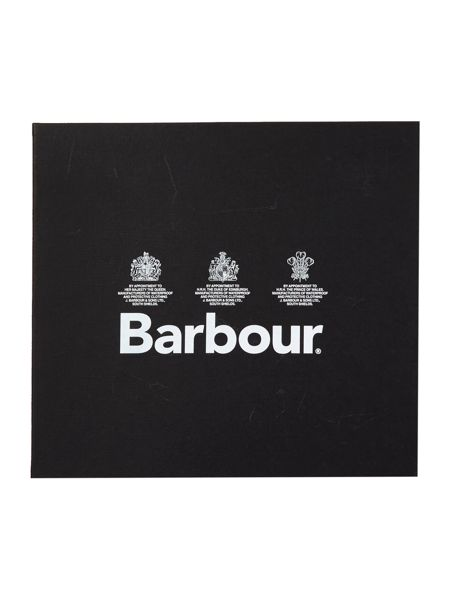 Barbour Plain lambswool and glove gift set