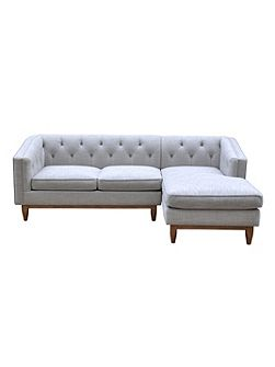 George RHF Chaise Sofa in Austria Shell