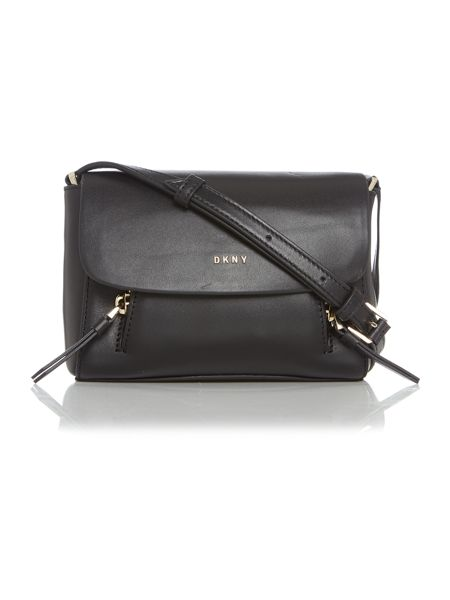 DKNY Greenwich black mini flap over cross body bag