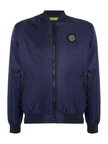 Versace Jeans Large back logo zip through bomber jacket