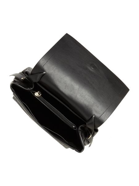 DKNY Greenwich black flapover cross body bag