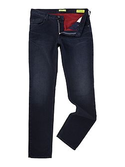 Regular fit dark wash jeans