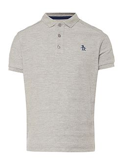 Boys Solid Marl Polo