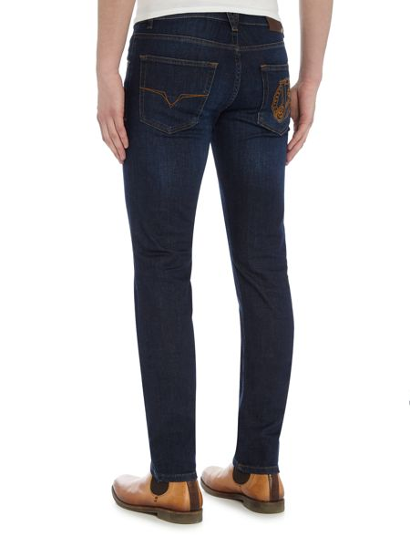 Versace Jeans Slim fit indigo dark wash jeans