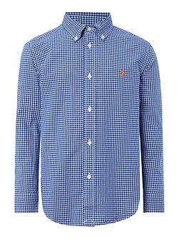 Boys Checked Poplin Shirt