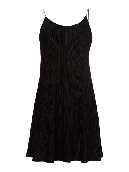 Therapy Bee Velvet Pleated Dress