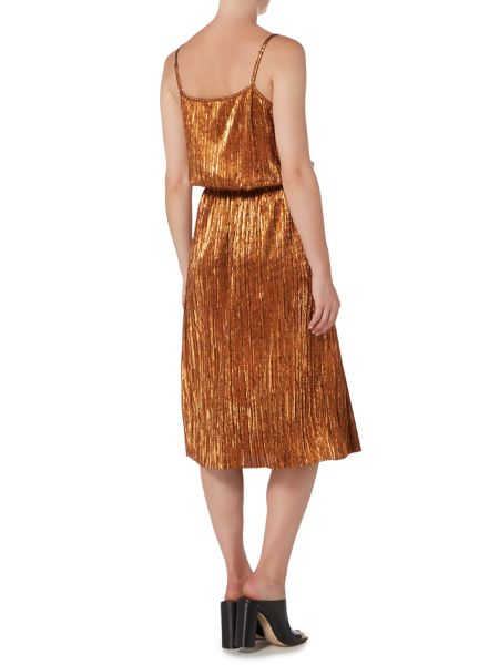 Therapy Afia Bronze Pleated Skirt
