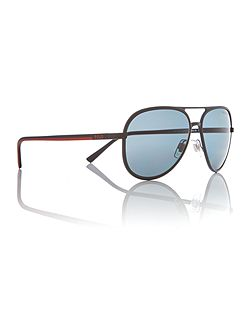 Matte black pilot PH3102 sunglasses