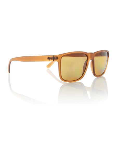 Polo Ralph Lauren Matte brown rectangle PH4113 sunglasses