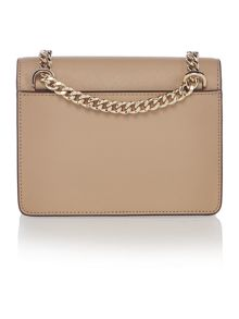 DKNY Saffinao neutral mini flapover cross body bag