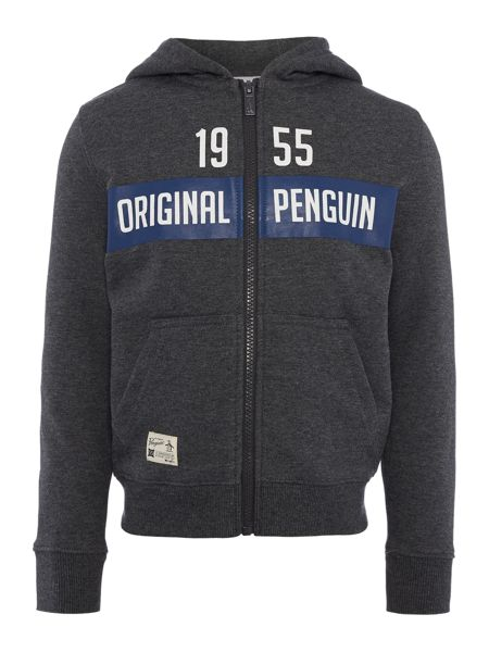 Original Penguin Boys Zip Through Hooded Sweat