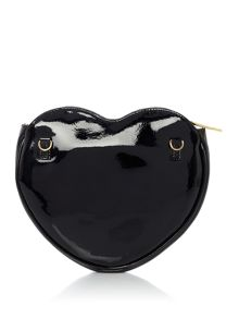 Vivienne Westwood Mirrorball black heart cross body bag