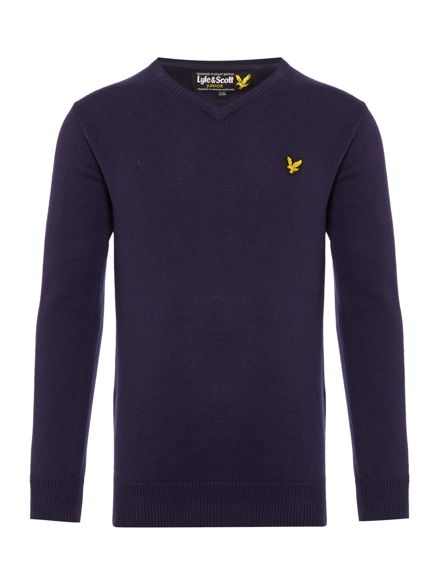 Lyle and Scott Lyle and Scott Boys Classic V Neck Jumper, Navy