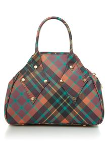 Vivienne Westwood Derby mac henry tartan grab dome bag