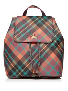 Vivienne Westwood Derby mac henry tartan backpack bag
