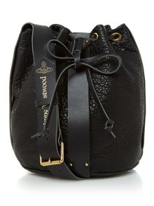 Vivienne Westwood Bondage black bucket bag