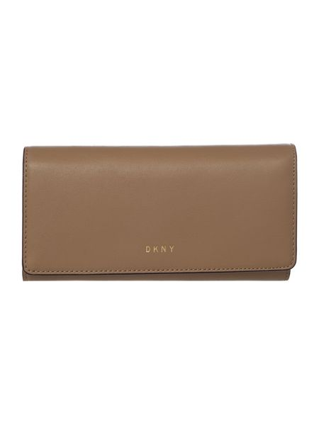 DKNY Greenwich Smooth neutral large flapover purse