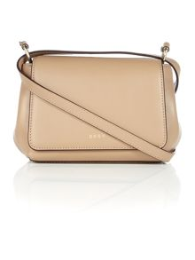 DKNY Greenwich neutral mini flapover cross body bag