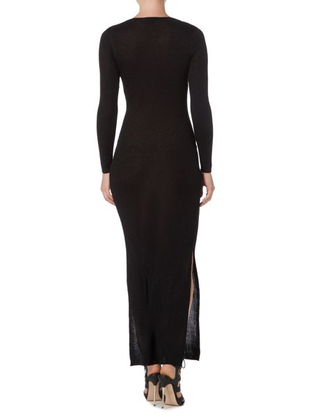 Therapy Dakota Metallic Knitted Maxi Dress