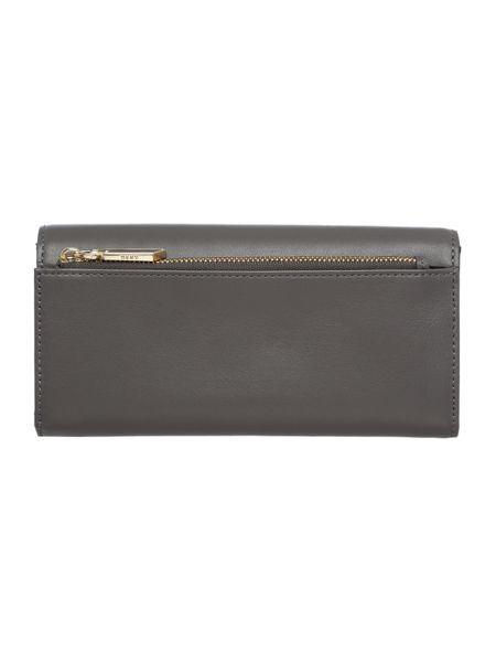 DKNY Greenwich Smooth grey large flapover purse