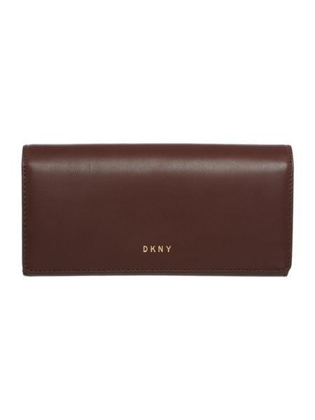 DKNY Greenwich Smooth burgundy large flapover purse