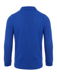 Lyle and Scott Boys Long Sleeve Solid Small Logo Polo