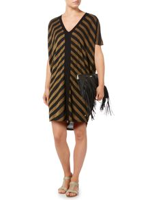 Biba Stripe metallic oversized tunic