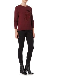 Therapy Nellie Sequin Reindeer Knit Jumper