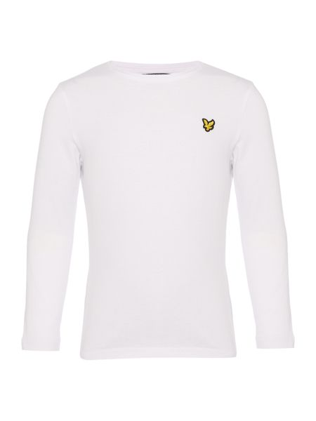 Lyle and Scott Boys Long-Sleeve Solid Small Logo T-shirt