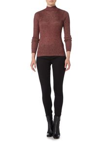 Therapy Anya Lurex Rollneck Top