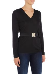 Versace Jeans Long sleeve v neck top