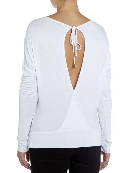 Versace Jeans Embellished top with tie back