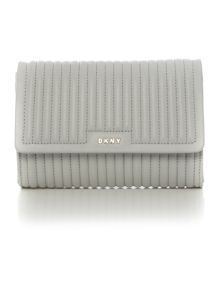 DKNY Gavensport pinstripe grey flapover cross body bag