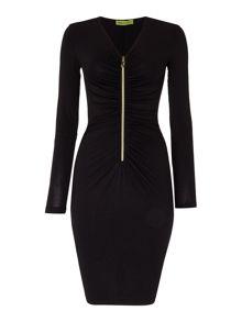 Versace Jeans Bodycon zip front dress