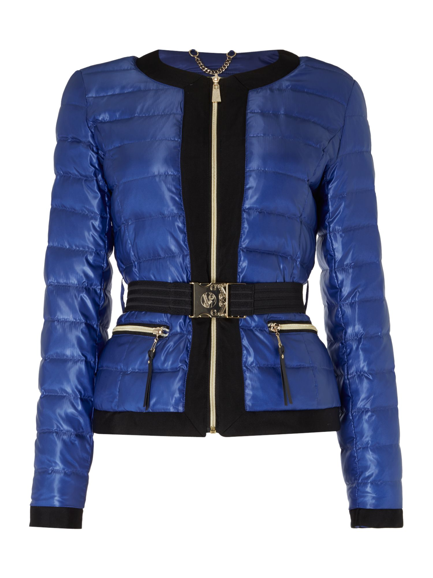 Versace Jeans Padded down jacket Blue