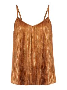 Therapy Afia Bronze Pleated Cami
